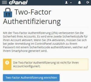 2FA in C-Panel einrichten